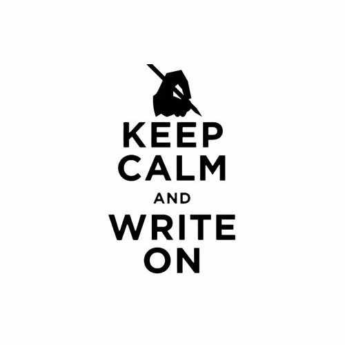 Keep Calm And Write On  Vinyl Decal Sticker  Size option will determine the size from the longest side Industry standard high performance calendared vinyl film Cut from Oracle 651 2.5 mil Outdoor durability is 7 years Glossy surface finish