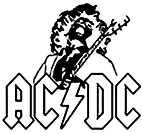 AC/DC Angus Young Vinyl Decal