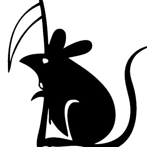 Our Death Mouse  Vinyl Decal Sticker is offered in many color and size options. <strong>PREMIUM QUALITY</strong> <ul>  <li>High Performance Vinyl</li>  <li>3 mil</li>  <li>5 - 7 Outdoor Lifespan</li>  <li>High Glossy</li>  <li>Made in the USA</li> </ul> &nbsp;
