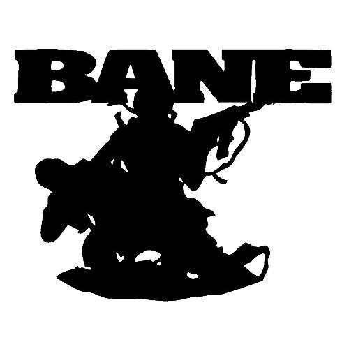 Our Bane  Vinyl Decal Sticker is offered in many color and size options. <strong>PREMIUM QUALITY</strong> <ul>  <li>High Performance Vinyl</li>  <li>3 mil</li>  <li>5 - 7 Outdoor Lifespan</li>  <li>High Glossy</li>  <li>Made in the USA</li> </ul> &nbsp;