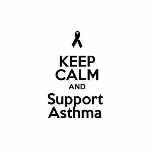 Keep Calm And Support Asthma  Vinyl Decal Sticker  Size option will determine the size from the longest side Industry standard high performance calendared vinyl film Cut from Oracle 651 2.5 mil Outdoor durability is 7 years Glossy surface finish