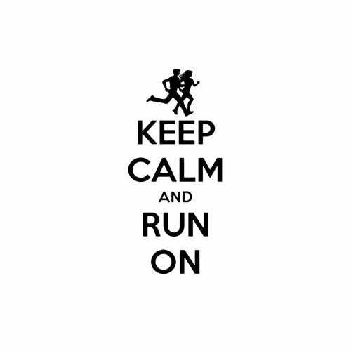 Keep Calm And Run On  Vinyl Decal Sticker  Size option will determine the size from the longest side Industry standard high performance calendared vinyl film Cut from Oracle 651 2.5 mil Outdoor durability is 7 years Glossy surface finish