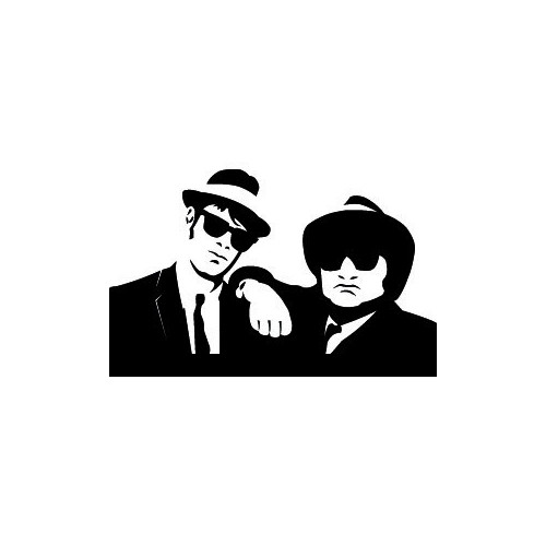 Our Blues Brothers Decal is offered in many color and size options. <strong>PREMIUM QUALITY</strong> <ul>  <li>High Performance Vinyl</li>  <li>3 mil</li>  <li>5 - 7 Outdoor Lifespan</li>  <li>High Glossy</li>  <li>Made in the USA</li> </ul> &nbsp;