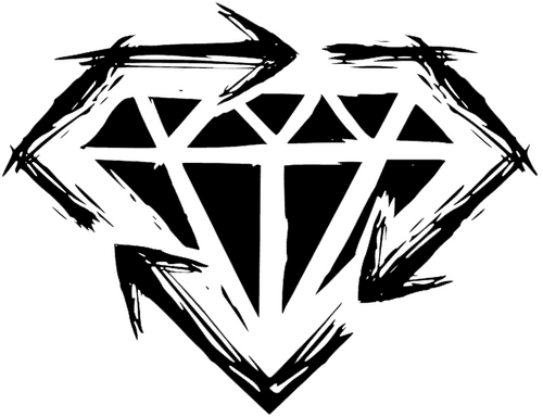 Stick to Your Guns Diamond Heart