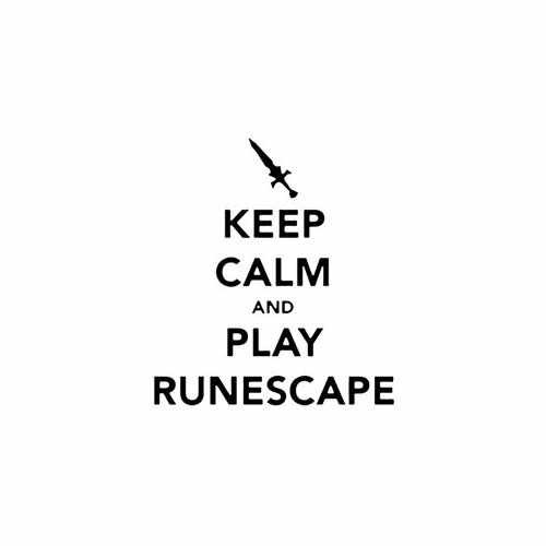 Keep Calm And Play Runescape  Vinyl Decal Sticker  Size option will determine the size from the longest side Industry standard high performance calendared vinyl film Cut from Oracle 651 2.5 mil Outdoor durability is 7 years Glossy surface finish