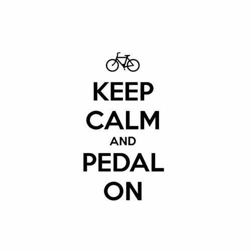 Keep Calm And Pedal On  Vinyl Decal Sticker  Size option will determine the size from the longest side Industry standard high performance calendared vinyl film Cut from Oracle 651 2.5 mil Outdoor durability is 7 years Glossy surface finish