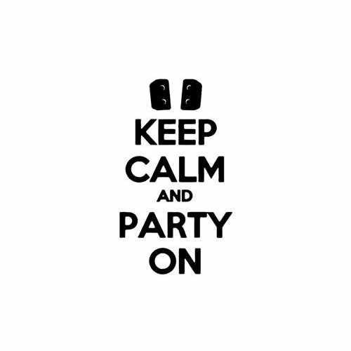 Keep Calm And Party On  Vinyl Decal Sticker  Size option will determine the size from the longest side Industry standard high performance calendared vinyl film Cut from Oracle 651 2.5 mil Outdoor durability is 7 years Glossy surface finish