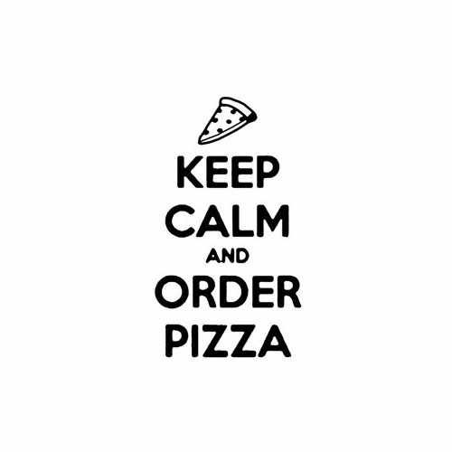 Keep Calm And Order Pizza  Vinyl Decal Sticker  Size option will determine the size from the longest side Industry standard high performance calendared vinyl film Cut from Oracle 651 2.5 mil Outdoor durability is 7 years Glossy surface finish