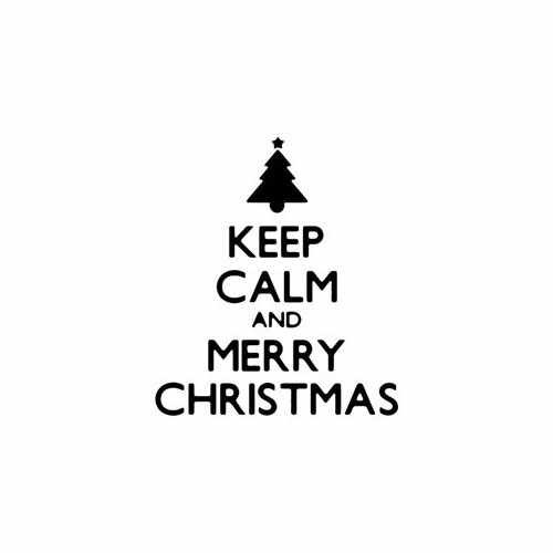Keep Calm And Merry Christmas Tree  Vinyl Decal Sticker  Size option will determine the size from the longest side Industry standard high performance calendared vinyl film Cut from Oracle 651 2.5 mil Outdoor durability is 7 years Glossy surface finish