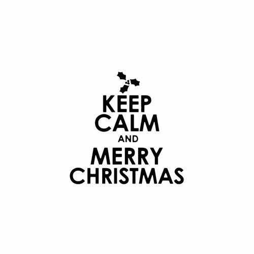 Keep Calm And Merry Christmas Mistletoe  Vinyl Decal Sticker  Size option will determine the size from the longest side Industry standard high performance calendared vinyl film Cut from Oracle 651 2.5 mil Outdoor durability is 7 years Glossy surface finish