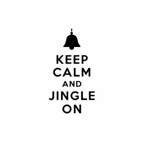 Keep Calm And Jingle On  Vinyl Decal Sticker  Size option will determine the size from the longest side Industry standard high performance calendared vinyl film Cut from Oracle 651 2.5 mil Outdoor durability is 7 years Glossy surface finish