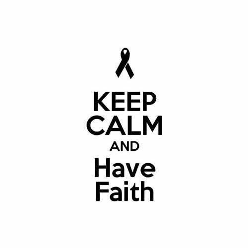 Keep Calm And Have Faith  Vinyl Decal Sticker  Size option will determine the size from the longest side Industry standard high performance calendared vinyl film Cut from Oracle 651 2.5 mil Outdoor durability is 7 years Glossy surface finish