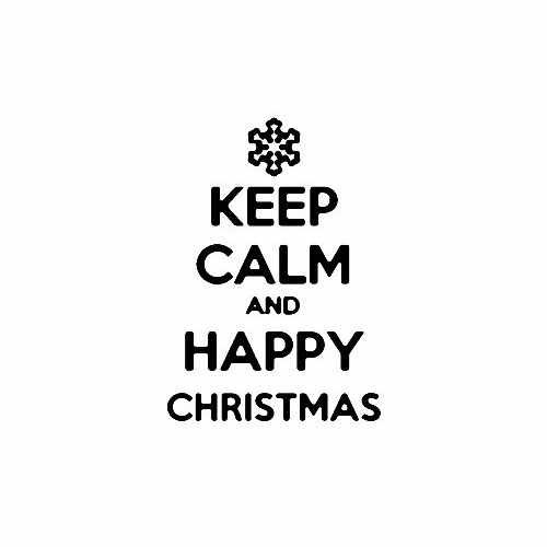 Keep Calm And Happy Christmas Snowflake  Vinyl Decal Sticker  Size option will determine the size from the longest side Industry standard high performance calendared vinyl film Cut from Oracle 651 2.5 mil Outdoor durability is 7 years Glossy surface finish