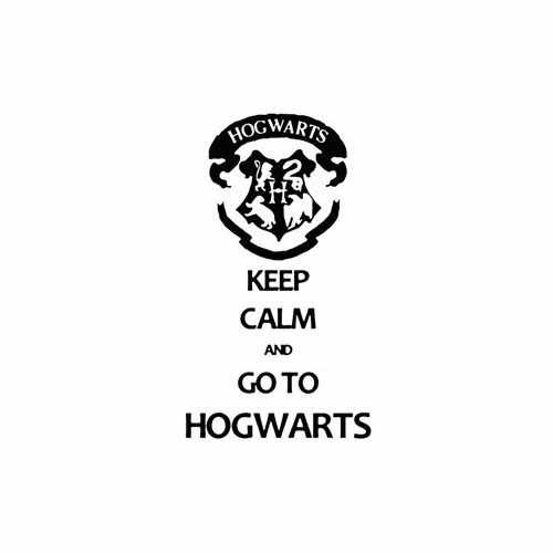 Keep Calm And Go To Hogwarts  Vinyl Decal Sticker  Size option will determine the size from the longest side Industry standard high performance calendared vinyl film Cut from Oracle 651 2.5 mil Outdoor durability is 7 years Glossy surface finish