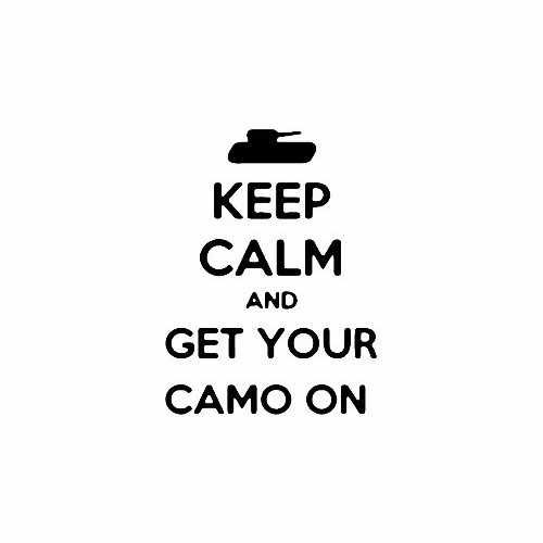 Keep Calm And Get Your Camo On  Vinyl Decal Sticker  Size option will determine the size from the longest side Industry standard high performance calendared vinyl film Cut from Oracle 651 2.5 mil Outdoor durability is 7 years Glossy surface finish