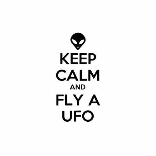 Keep Calm And Fly A Ufo  Vinyl Decal Sticker  Size option will determine the size from the longest side Industry standard high performance calendared vinyl film Cut from Oracle 651 2.5 mil Outdoor durability is 7 years Glossy surface finish