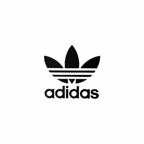 Adidas Both Vinyl Decal Sticker  Size option will determine the size from the longest side Industry standard high performance calendared vinyl film Cut from Oracle 651 2.5 mil Outdoor durability is 7 years Glossy surface finish