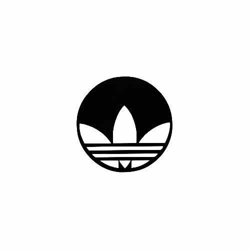 Adidas Round Vinyl Decal Sticker  Size option will determine the size from the longest side Industry standard high performance calendared vinyl film Cut from Oracle 651 2.5 mil Outdoor durability is 7 years Glossy surface finish