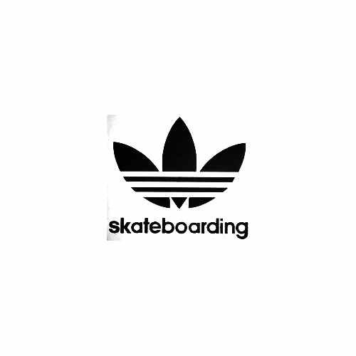 Adidas Skateboarding Leaf Vinyl Decal Sticker  Size option will determine the size from the longest side Industry standard high performance calendared vinyl film Cut from Oracle 651 2.5 mil Outdoor durability is 7 years Glossy surface finish