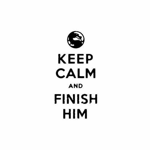 Keep Calm And Finish Him  Vinyl Decal Sticker  Size option will determine the size from the longest side Industry standard high performance calendared vinyl film Cut from Oracle 651 2.5 mil Outdoor durability is 7 years Glossy surface finish