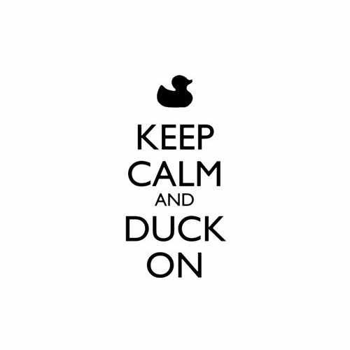 Keep Calm And Duck On  Vinyl Decal Sticker  Size option will determine the size from the longest side Industry standard high performance calendared vinyl film Cut from Oracle 651 2.5 mil Outdoor durability is 7 years Glossy surface finish