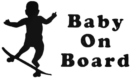 Baby On Board Skateboard Style 2