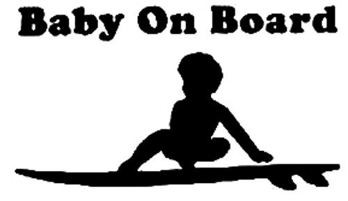 Baby On Board Surfboard