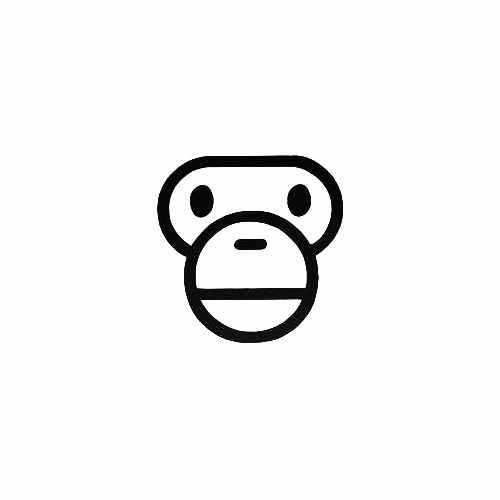 Bape Baby Milo Vinyl Decal Sticker  Size option will determine the size from the longest side Industry standard high performance calendared vinyl film Cut from Oracle 651 2.5 mil Outdoor durability is 7 years Glossy surface finish