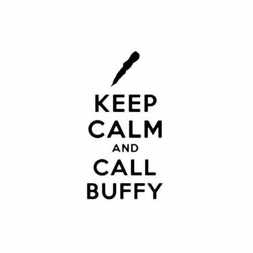 Keep Calm And Call Buffy  Vinyl Decal Sticker  Size option will determine the size from the longest side Industry standard high performance calendared vinyl film Cut from Oracle 651 2.5 mil Outdoor durability is 7 years Glossy surface finish