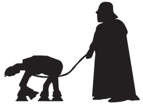 Darth Vader Walking At At