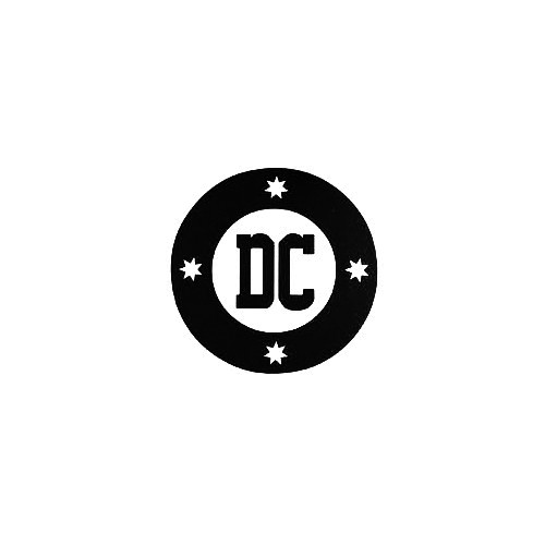 Dc Round Vinyl Decal Sticker  Size option will determine the size from the longest side Industry standard high performance calendared vinyl film Cut from Oracle 651 2.5 mil Outdoor durability is 7 years Glossy surface finish