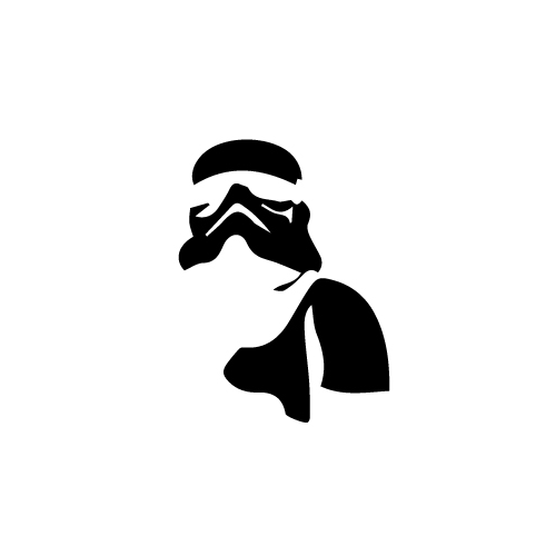 Stormtrooper With Body Vinyl Decal Sticker  Size option will determine the size from the longest side Industry standard high performance calendared vinyl film Cut from Oracle 651 2.5 mil Outdoor durability is 7 years Glossy surface finish