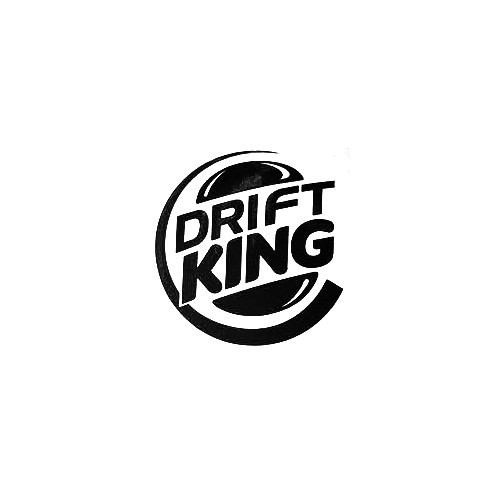 Drift King Vinyl Decal Sticker  Size option will determine the size from the longest side Industry standard high performance calendared vinyl film Cut from Oracle 651 2.5 mil Outdoor durability is 7 years Glossy surface finish