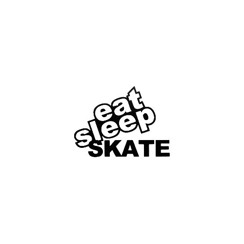 Eat Sleep Skate Vinyl Decal Sticker  Size option will determine the size from the longest side Industry standard high performance calendared vinyl film Cut from Oracle 651 2.5 mil Outdoor durability is 7 years Glossy surface finish