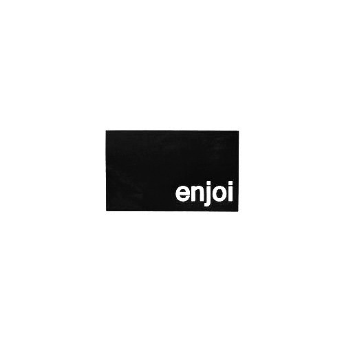 Enjoi Block Vinyl Decal Sticker  Size option will determine the size from the longest side Industry standard high performance calendared vinyl film Cut from Oracle 651 2.5 mil Outdoor durability is 7 years Glossy surface finish