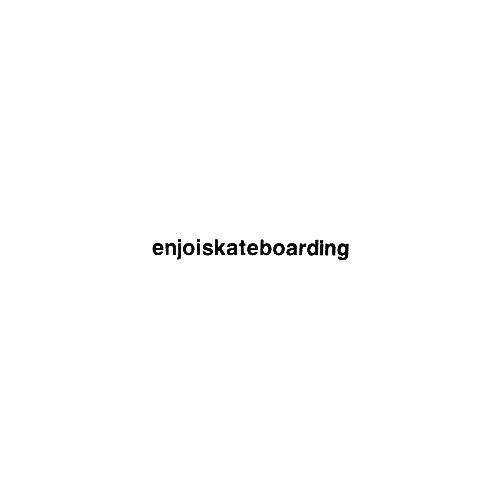 Enjoi Skateboarding Vinyl Decal Sticker  Size option will determine the size from the longest side Industry standard high performance calendared vinyl film Cut from Oracle 651 2.5 mil Outdoor durability is 7 years Glossy surface finish