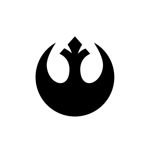 Rebel Alliance Logo Vinyl Decal Sticker  Size option will determine the size from the longest side Industry standard high performance calendared vinyl film Cut from Oracle 651 2.5 mil Outdoor durability is 7 years Glossy surface finish