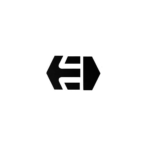 Etnies Block Vinyl Decal Sticker  Size option will determine the size from the longest side Industry standard high performance calendared vinyl film Cut from Oracle 651 2.5 mil Outdoor durability is 7 years Glossy surface finish