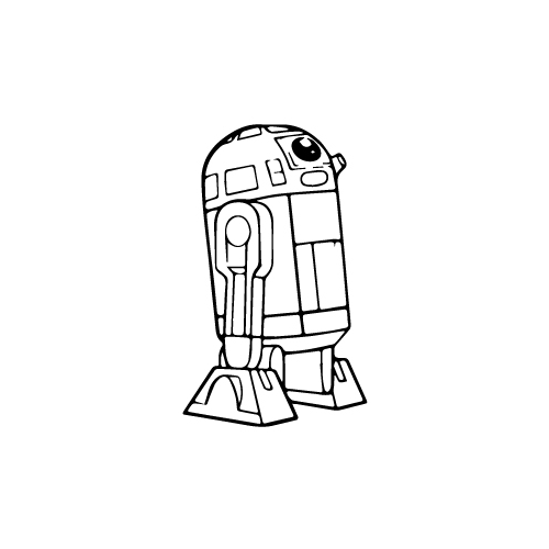 R2 D2 (Thin) Vinyl Decal Sticker  Size option will determine the size from the longest side Industry standard high performance calendared vinyl film Cut from Oracle 651 2.5 mil Outdoor durability is 7 years Glossy surface finish