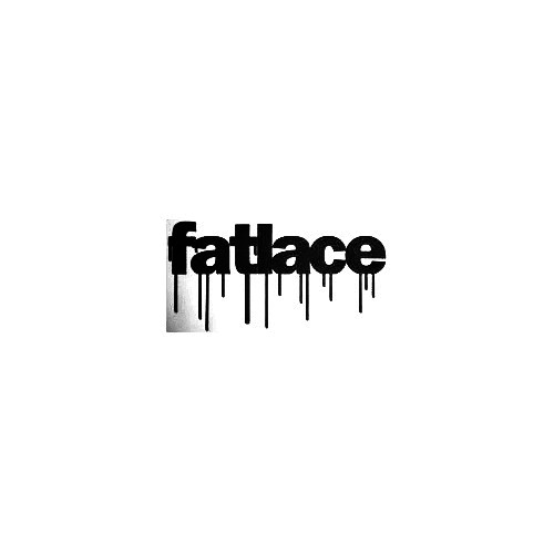 Fatlace Drip Vinyl Decal Sticker  Size option will determine the size from the longest side Industry standard high performance calendared vinyl film Cut from Oracle 651 2.5 mil Outdoor durability is 7 years Glossy surface finish