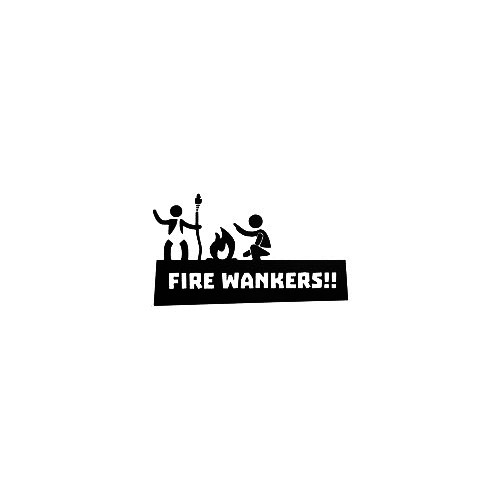 Fire Wankers Vinyl Decal Sticker  Size option will determine the size from the longest side Industry standard high performance calendared vinyl film Cut from Oracle 651 2.5 mil Outdoor durability is 7 years Glossy surface finish