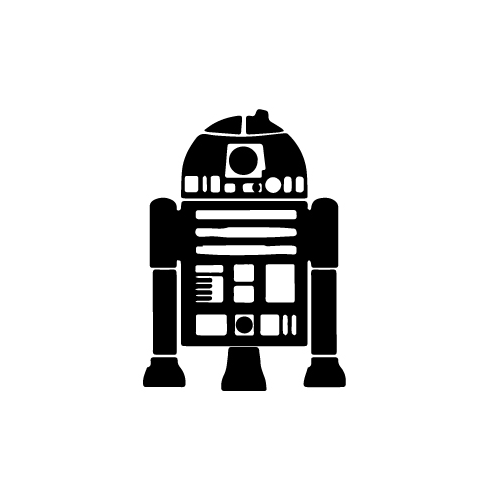 R2 D2 (Full) Vinyl Decal Sticker  Size option will determine the size from the longest side Industry standard high performance calendared vinyl film Cut from Oracle 651 2.5 mil Outdoor durability is 7 years Glossy surface finish