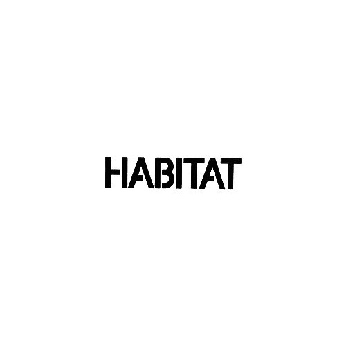 Habitat Footwear Text Vinyl Decal Sticker  Size option will determine the size from the longest side Industry standard high performance calendared vinyl film Cut from Oracle 651 2.5 mil Outdoor durability is 7 years Glossy surface finish