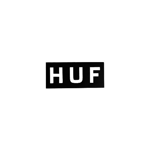Huf Square Vinyl Decal Sticker  Size option will determine the size from the longest side Industry standard high performance calendared vinyl film Cut from Oracle 651 2.5 mil Outdoor durability is 7 years Glossy surface finish