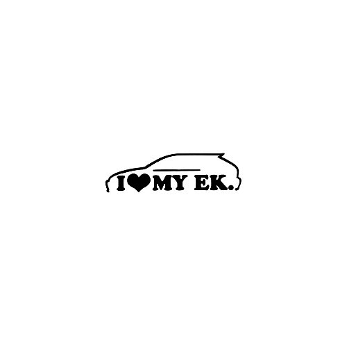 I Heart My Ek Vinyl Decal Sticker  Size option will determine the size from the longest side Industry standard high performance calendared vinyl film Cut from Oracle 651 2.5 mil Outdoor durability is 7 years Glossy surface finish