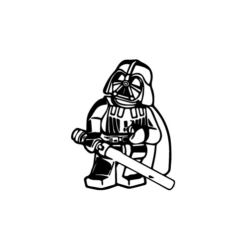 Lego Darth Vader Vinyl Decal Sticker  Size option will determine the size from the longest side Industry standard high performance calendared vinyl film Cut from Oracle 651 2.5 mil Outdoor durability is 7 years Glossy surface finish