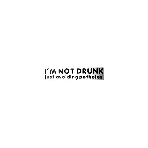 Im Not Drunk Vinyl Decal Sticker  Size option will determine the size from the longest side Industry standard high performance calendared vinyl film Cut from Oracle 651 2.5 mil Outdoor durability is 7 years Glossy surface finish