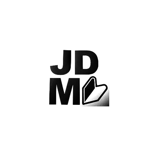Jdm Full Vinyl Decal Sticker  Size option will determine the size from the longest side Industry standard high performance calendared vinyl film Cut from Oracle 651 2.5 mil Outdoor durability is 7 years Glossy surface finish