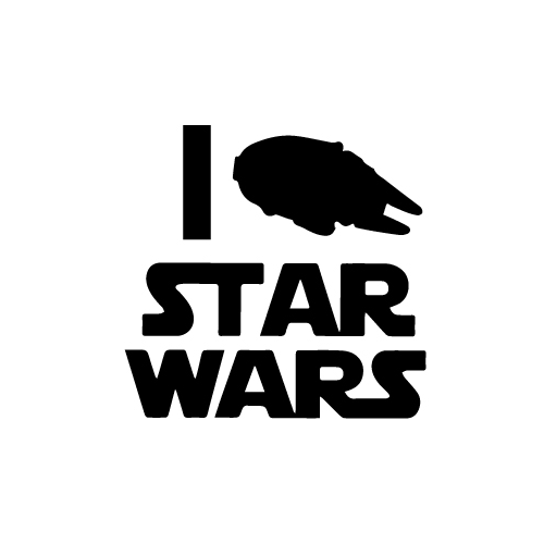 I Heart Star Wars Vinyl Decal Sticker  Size option will determine the size from the longest side Industry standard high performance calendared vinyl film Cut from Oracle 651 2.5 mil Outdoor durability is 7 years Glossy surface finish
