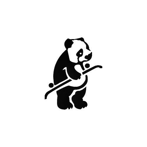Lrg Team Panda Vinyl Decal Sticker  Size option will determine the size from the longest side Industry standard high performance calendared vinyl film Cut from Oracle 651 2.5 mil Outdoor durability is 7 years Glossy surface finish